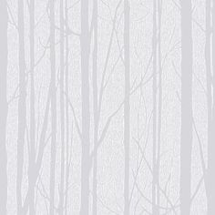 Craig & Rose White Trees Paintable Wallpaper - B&Q for all your home and garden supplies and advice on all the latest DIY trends Tree Nature Wallpaper, Diy Wallpaper, White Wallpaper, Pattern Wallpaper, Nursery Wallpaper, Wallpaper Designs, Designer Wallpaper, White Twig Tree, White Trees
