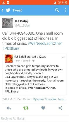 Chennai Flood Water Food Rescue Help Requirement People