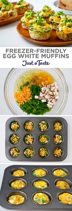 Freezer-Friendly Egg White Muffins recipe from justataste.com #healthy #recipe #eggmuffin