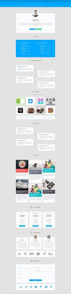 #portfolio Material design personal cv
