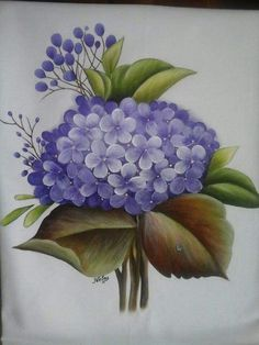 O - Art Floral, Pinterest Pinturas, Fabric Paint Designs, Tole Painting Patterns, One Stroke Painting, China Painting, Botanical Art, Fabric Painting, Flower Art