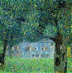 Farmhouse in Upper Austria by Gustav Klimt