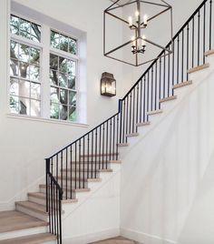 80 Modern Farmhouse Staircase Decor Ideas