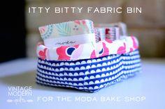 Itty Bitty Fabric Bin « Moda Bake Shop