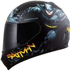 Capacete Norisk FF391 Preto Fosco Batman Hero