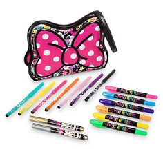 Disney Minnie Mouse Purse Pouch Marker Set | Disney StoreMinnie Mouse Purse Pouch Marker Set - Your budding artist will take a shine to this Minnie Mouse Purse Pouch Marker Set. Fashioned in glossy PVC, the purse-style case opens up to reveal a wealth of colored markers for on-the-go creativity.