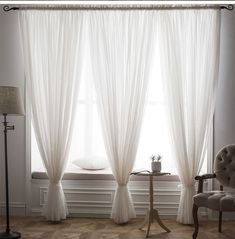 room decor For Women curtains - Soild White Window Screening Curtains for Living Room The Bedroom Modern Tulle Sheer Curtains Drapes Fabric Blinds Custom Made Sheer Curtains Bedroom, Living Room Decor Curtains, White Sheer Curtains, Luxury Curtains, Bedroom Decor, Curtain Ideas For Living Room, Living Room Blinds, Bedroom Blinds, Window Drapes