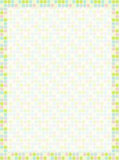 Polka Dot Stationery Paper Printable Treats