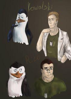 PoM: Army style - Rico, Kowalski - penguins-of-madagascar Fan Art