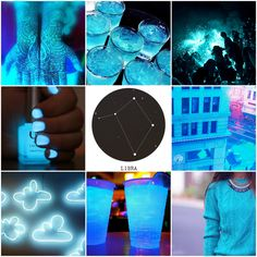aesthetics • zodiac • neon • libra • blue
