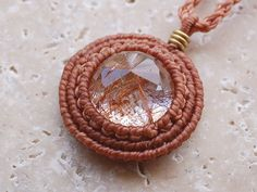 red rutile quartz pendant