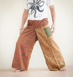 Shop for on Etsy, the place to express your creativity through the buying and selling of handmade and vintage goods. Thai Fisherman Pants, Parachute Pants, Trending Outfits, Mens Fashion, Costumes, Cotton, How To Wear, Etsy, Vintage