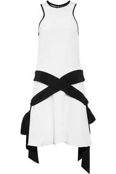 Prabal Gurung Paneled silk crepe-jersey dress