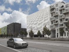 • This parking garage is in Orestad, a new area...