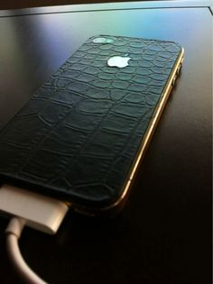 Croc + Gold iPhone Case