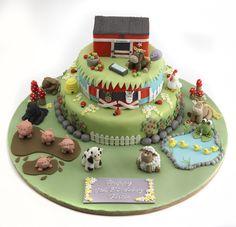 horse themed birthday cake, birthday cake, fondant horse, fondant cow, fondant dog, fondant rabbit, fondant pigs, fondant sheep, fondant ducks, fondant frog, fondant pond, fondant stable, fondant apples, fondant trees, fondant ladybird, fondant farmyard, fondant stones, fondant fencing, fondant beehive, fondant farm
