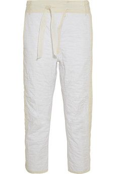 Isabel Marant Hamil quilted cotton wide-leg pants | NET-A-PORTER