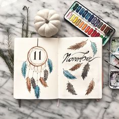Discover over 40 bullet journal monthly cover ideas and plan your bullet journal monthly theme ahead. Here I gathered the best cover pages for a whole year. thme Bullet Journal Monthly Cover Ideas New Edition] - AnjaHome December Bullet Journal, Bullet Journal Cover Ideas, Bullet Journal Headers, Bullet Journal 2020, Bullet Journal Spread, Bullet Journal Inspo, Bullet Journal Layout, Journal Covers, Autumn Bullet Journal