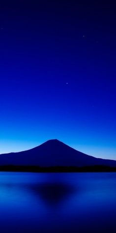 Mt. Fuji, Japan : blue on blue on blue