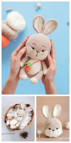 Crochet Tutorials, Crochet Patterns Amigurumi, Amigurumi Doll, Crochet Bunny, Crochet Yarn, Free Crochet, Stuffed Toys Patterns, Popular Pins, Free Pattern