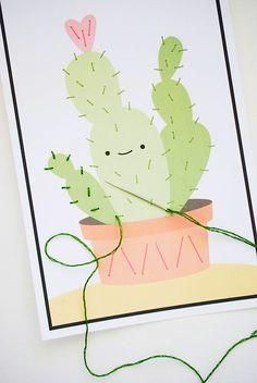 Practice those fine motor skills with these adorable stitching DIYs.