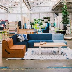 Quadrant Soft sofa components from Koskela. This squashy setting and the tribal leanings of the rug are great.