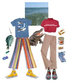 """gone fishin @momo-decaux"" by butternani on Polyvore featuring Hanes, Converse, Guy Harvey, Dr. Martens, Paul & Joe and sOUP"