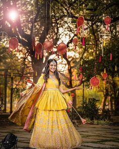 Looking for Pretty yellow lehenga with long peplum blouse? Browse of latest bridal photos, lehenga & jewelry designs, decor ideas, etc. on WedMeGood Gallery. Bridal Outfits, Bridal Dresses, Mehndi Outfit, Saree Gown, Haldi Ceremony, Designer Bridal Lehenga, Peplum Blouse, Long Blouse, Indian Designer Wear