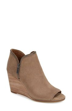 Lucky Brand 'Jakobie' Open Toe Wedge Bootie (Women) available at #Nordstrom