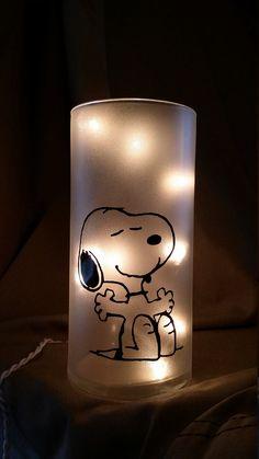 Snoopy Peanuts Light/Nightlight/Lamp/Wine