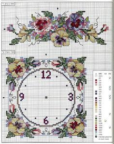 Mille schemi a punto croce gratuiti per tutti: Schemi a punto croce - orologi per la casa