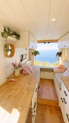 Van Conversion Interior, Camper Van Conversion Diy, Bus Living, Tiny House Living, Motorhome, Ducato Camper, School Bus Tiny House, Tyni House, Build A Camper Van