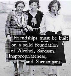Friendships must be built on a solid foundation
