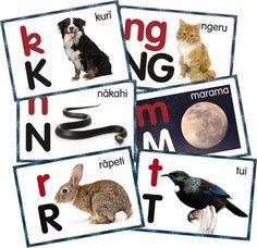A5 Maori Alphabet Frieze - laminated