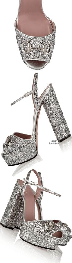Heel measures approximately 6 inches with a inches platform Silver glitter-finished leather Buckle-fastening ankle strap Small to size. Bling Wedding Shoes, Bridal Shoes, Bootie Boots, Shoe Boots, Women's Shoes, Alexander Mcqueen Shoes Women, Silver Wedding Colours, Glitter Shoes, Glass Slipper