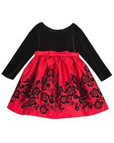 717e599ba Little Girls' Velvet to Flocked Matte Satin Dress Velvet Matte, Black  Velvet, Toddler