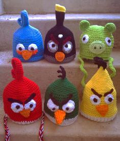 Angry Birds Crochet Hat Patterns I CAN NOT knit or sew, but my son who has AUTISM loves loves loves the red angry bird....he'd actually wear it and I'd actually let him :) if it made him happy that is all that matters
