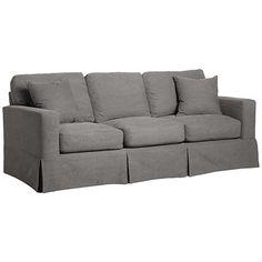 Alpha Gray Fabric 3-Seat Sofa