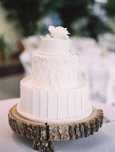 White three tier cake