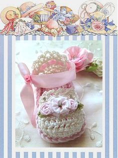 Crochet Baby Booties - Beautiful Inspirational Designs at TippyToesBabyDesigns, Marta Long Creations