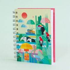 "Cuaderno ""Raining in the jungle"""