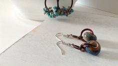 Rustic Turquoise and Brown Earrings on Etsy, $16.00