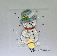 paper quilled snowman