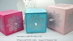 This beautiful sturdy little project can be used as a gorgeous gift box or as a stackable storage box.