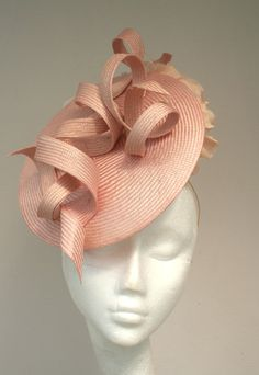 Items similar to Handmade parasisal headpiece, with sculpted detail and fabric flowers. on Etsy Millinery Hats, Fascinator Hats, Fancy Hats, Cool Hats, Cocktail Hat, Love Hat, Hat Hairstyles, Derby Hats, Hat Making