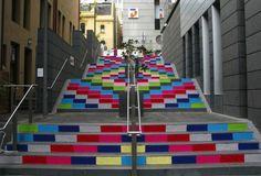 wunderbareStraßenart creatively designed stairs