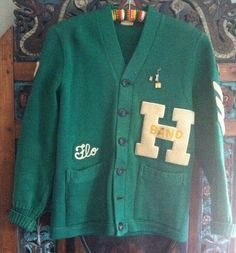 """Vintage 1957 Band Letterman Sweater """"Flo"""" MUST SEE!"""
