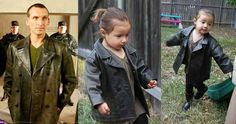 """9th Doctor - Christopher Eccleston.   Little Girl Dresses Up As All 11 Doctors From """"Doctor Who"""""""