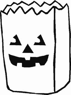 HALLOWEEN Candy Bag Coloring Page At Coloringbookfun