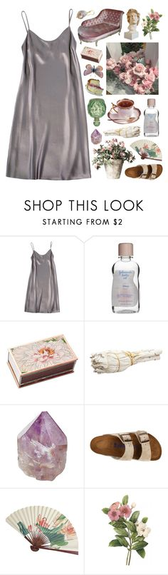 """""""drinkin' cherry schnapps in the velvet night"""" by ladykrystal ❤ liked on Polyvore featuring Shelly Steffee, Shandell's, Theory, Mapleton Drive, Birkenstock and Lena Skadegard"""